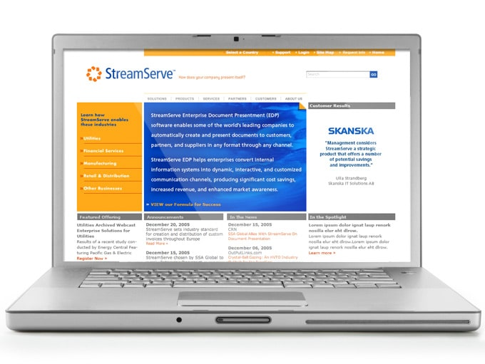 StreamServe Web Design