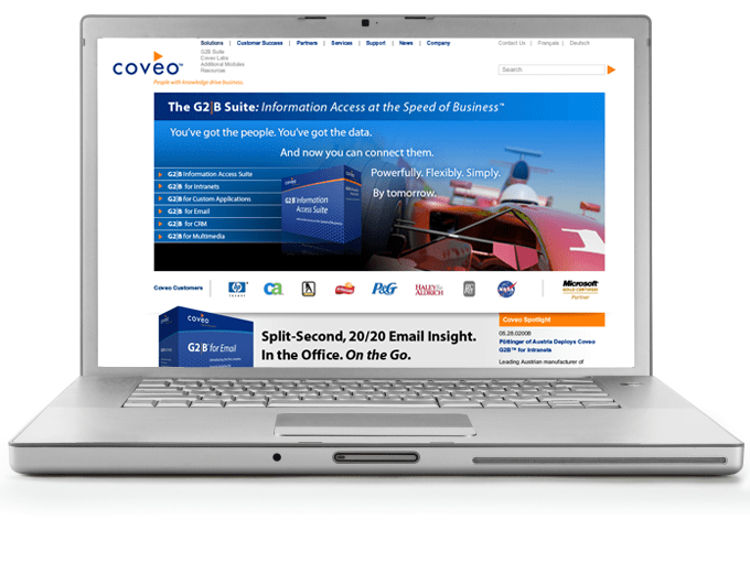 Coveo web design