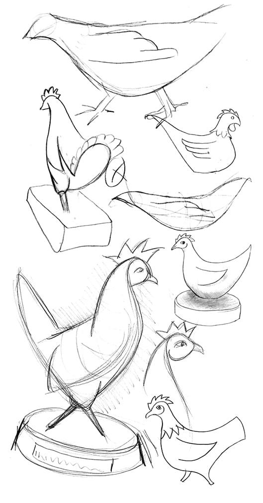 Kroner Design Henny Sketches